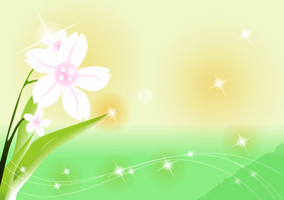 Цветок с фоном