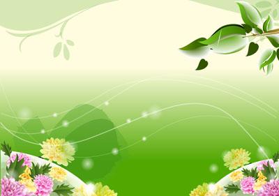 Природа на зеленом фоне