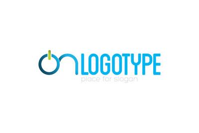 Голубой логотип ON