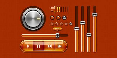 Интерфейс для аудио плеера