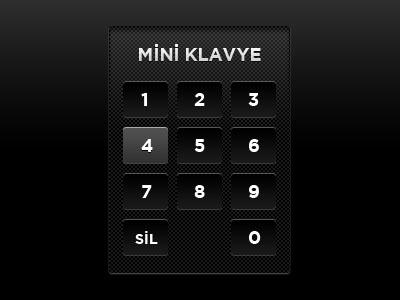 Мини клавиатура цифровая