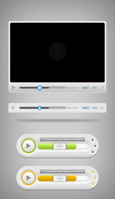 Интерфейс аудио и видео плеера