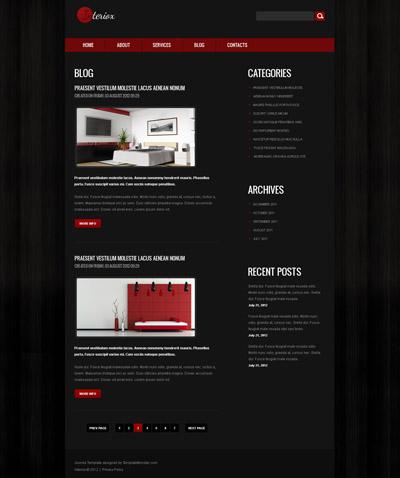 Шаблон сайта черного цвета