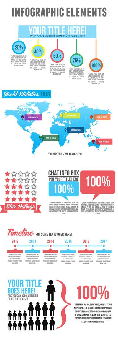 Небольшой набор инфографики