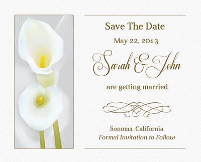Шаблон приглашения на свадьбу белого цвета