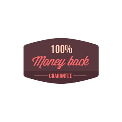 Бейдж 100% гарантия возврата средств