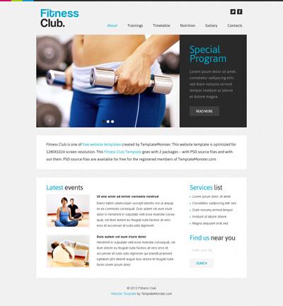 Шаблон сайта фитнес-клуба