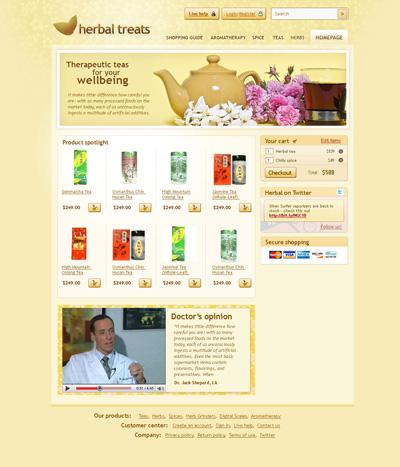 Шаблон сайта по продаже чая