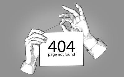 Рисованная заглушка для страницы 404
