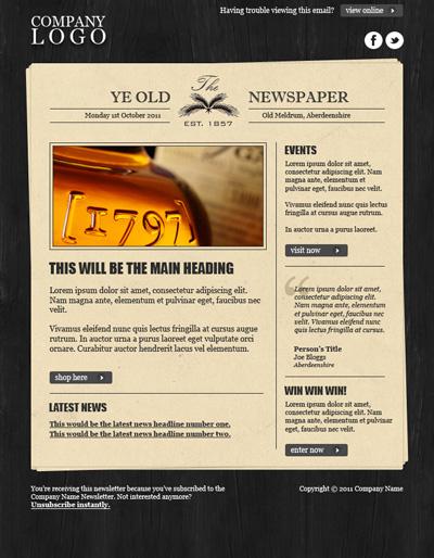 Шаблон сайта в виде газеты