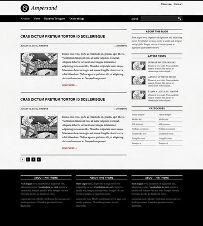 Черно-белый шаблон сайта