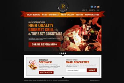 Шаблон сайта бара или ресторана