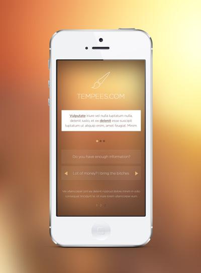 Mockup Iphone 6 для презентации приложения