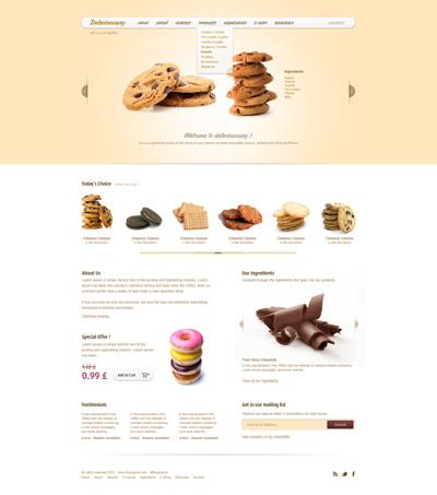 Шаблон сайта по продаже сладостей