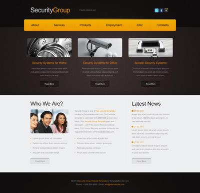 Шаблон сайта охранного агентства