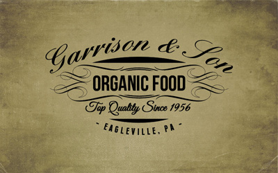 Логотип кафе органической еды