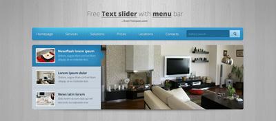 Слайдер с меню для сайта