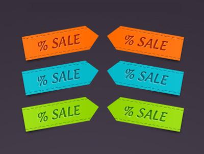 Стикеры для распродаж и скидок