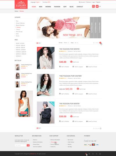 Исходник интернет-магазина люксовой одежды