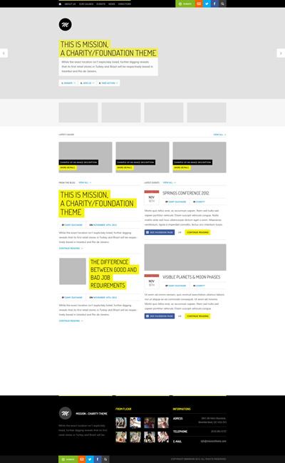 Исходник сайта в стиле Flat черно-желтого цвета