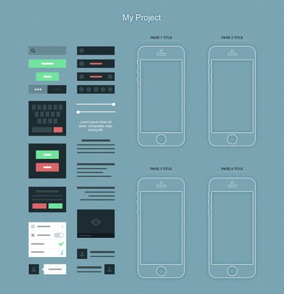 Набор исходников элементов для мобильного прилоежения