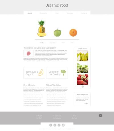 Макет сайта о еде