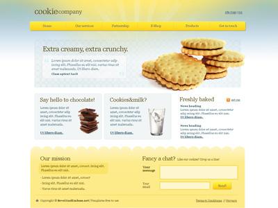 Макет сайта с печенюшками