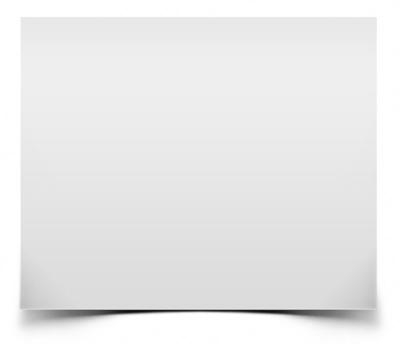 Белый блок с тенью снизу