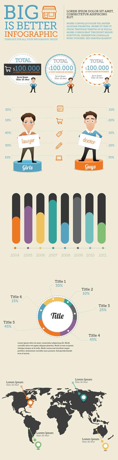 Набор элементов для инфографики