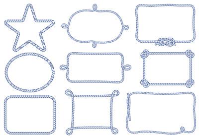 Рамки из веревки