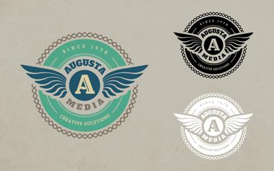 Логотип с крыльями