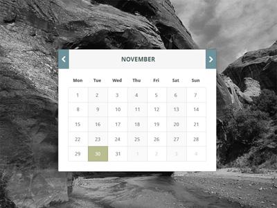 Календарь в стиле Flat
