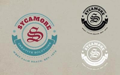 Логотип веб студии в старинном стиле