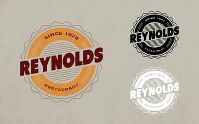 Логотип ресторана в ретро стиле