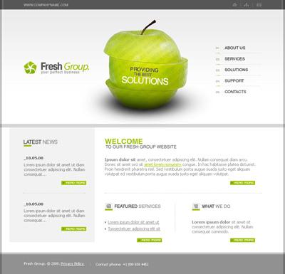 Исходник сайта с яблоком