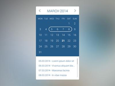 Аккуратный календарь