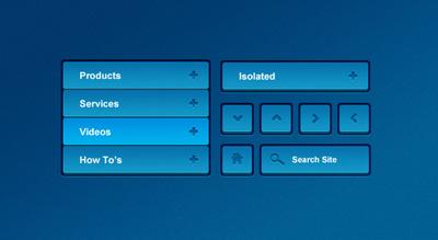 Синие кнопки для сайта