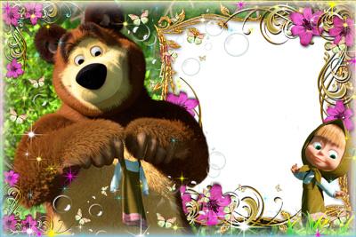 Рамка маша и медведь