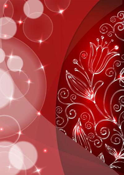 Красный новогодний шаблон