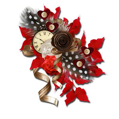 Розы коричневые и красные