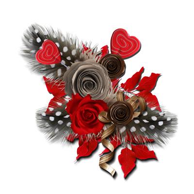 Серые и коричневые розы