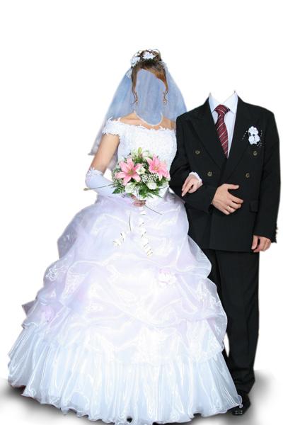 Свадебное платье и костюм мужской