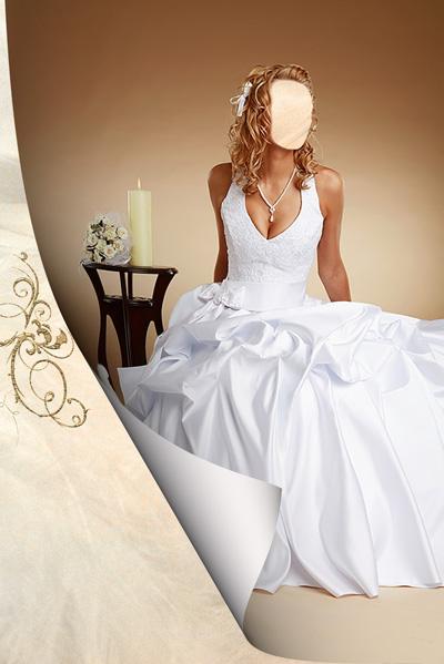 Свадебное платье на невесте
