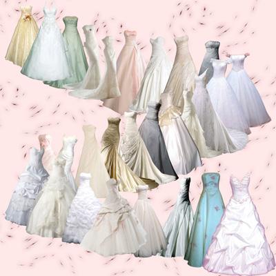 Свадебные платья, набор 28 штук