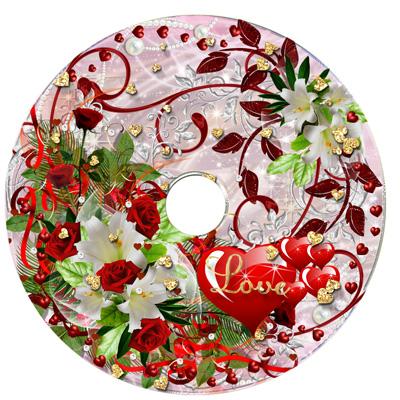 Яркий свадебный диск