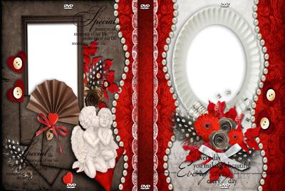 Красивая обложка на свадебный диск