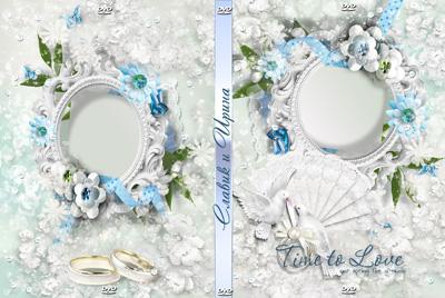 Кружевная обложка на свадебный диск