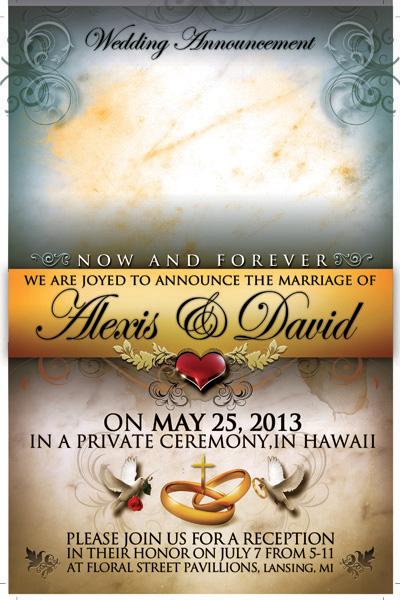 Свадьба: праздничный плакат