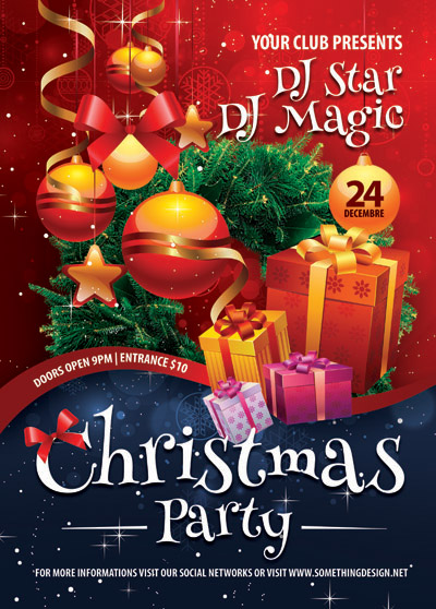 Плакат для новогодней вечеринки