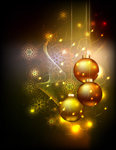 Желтые новогодние шары